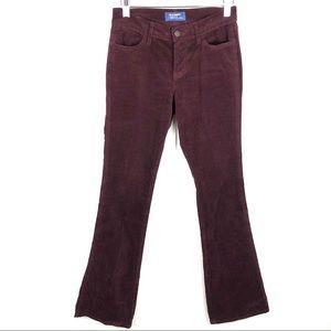 Old Navy Burgundy Corduroy Flare Pants Size 2